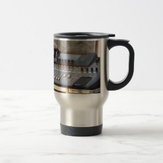 Professional audio mixing console travel mug