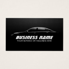 Professional Auto Detailing Repair Black Metal Business Card at Zazzle