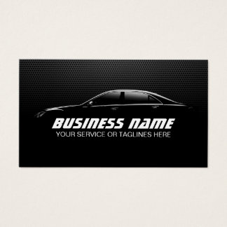 Professional Auto Detailing Repair Black Metal Business Card