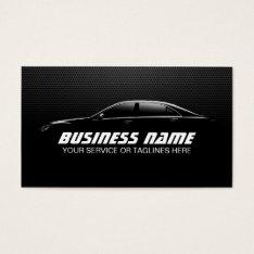 Professional Auto Detailing Repair Black Metal Business Card at Zazzle