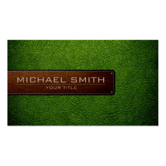 Professional Avocado Leather Look Business Card