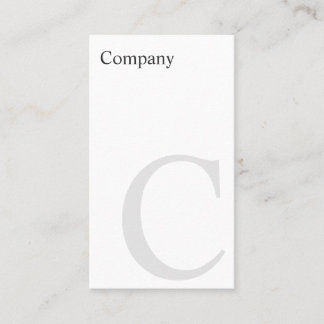 Professional B&W Typo Vertical Business Card