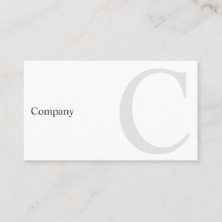 Professional B&W Typography Minimal Business Card