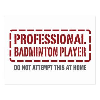 Professional Badminton Player Postcard