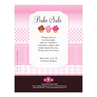 Professional Bake Sale Flyer personalized