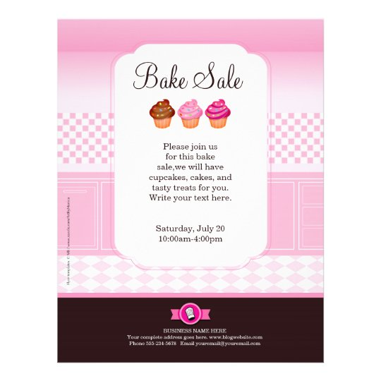 Professional Bake Sale Flyer personalized – Bake Sale Flyer