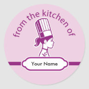 Professional Baker Round Stickers