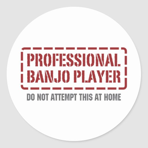 Professional Banjo Player Round Stickers