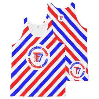 Professional Barber All-Over Print Tank Top