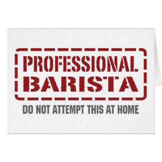 Professional Barista Card