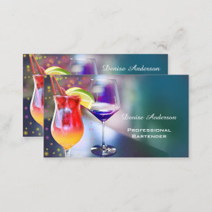 Bartender business cards templates zazzle professional bartender business card reheart Image collections