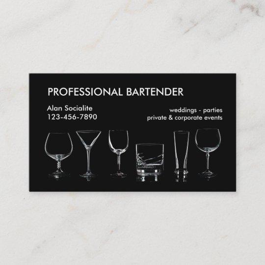 Professional bartender business card zazzle professional bartender business card colourmoves