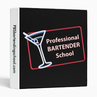 Professional Bartender School Binder