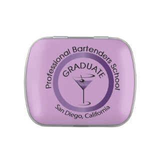 Professional Bartenders School Graduate Tin Candy Tins