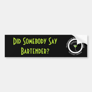 Professional Bartenders School I graduated Bumper Sticker