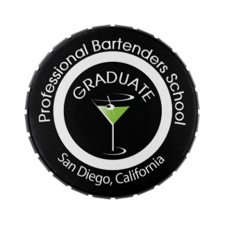Professional Bartending School Graduate Tin Candy Tins