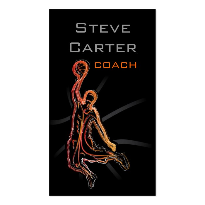 Professional Basketball Coach Player Card Business Card Template
