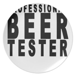 Professional Beer Taster T-shirts.png Party Plates