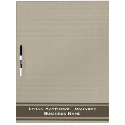 Professional Beige Brown Dry Erase Board