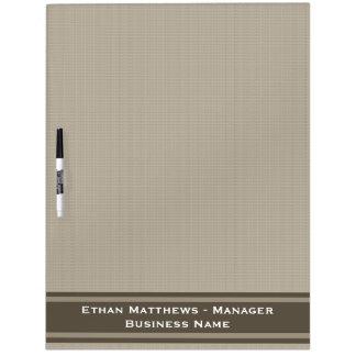 Professional Beige Brown Dry Erase Board
