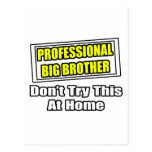 Professional Big Brother...Joke Postcard