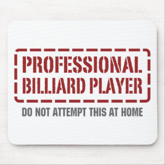 Professional Billiard Player Mouse Pad