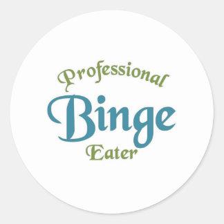 Professional Binge eater Stickers