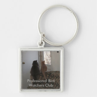 Professional Bird Watcher Club Keychain