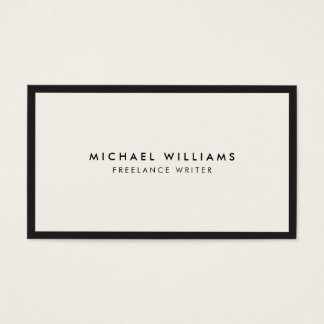 Professional Black and Ivory Business Card