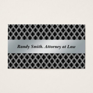 Professional Black and Silver Business Cards