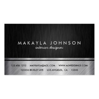 Professional Black and Silver Interior Design Business Cards