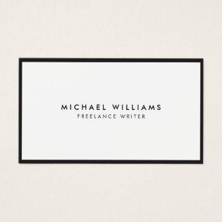 Professional Black And White Business Card at Zazzle