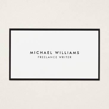 Professional Business Professional Black and White Business Card