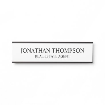 Professional Black and White Door Sign