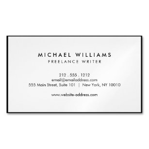 Professional Black And White Magnetic Business Card