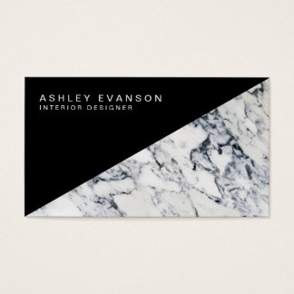 Professional Black and White Marble Pattern Business Card