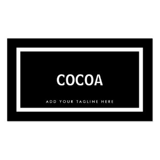 Professional black and white simple modern coral business card