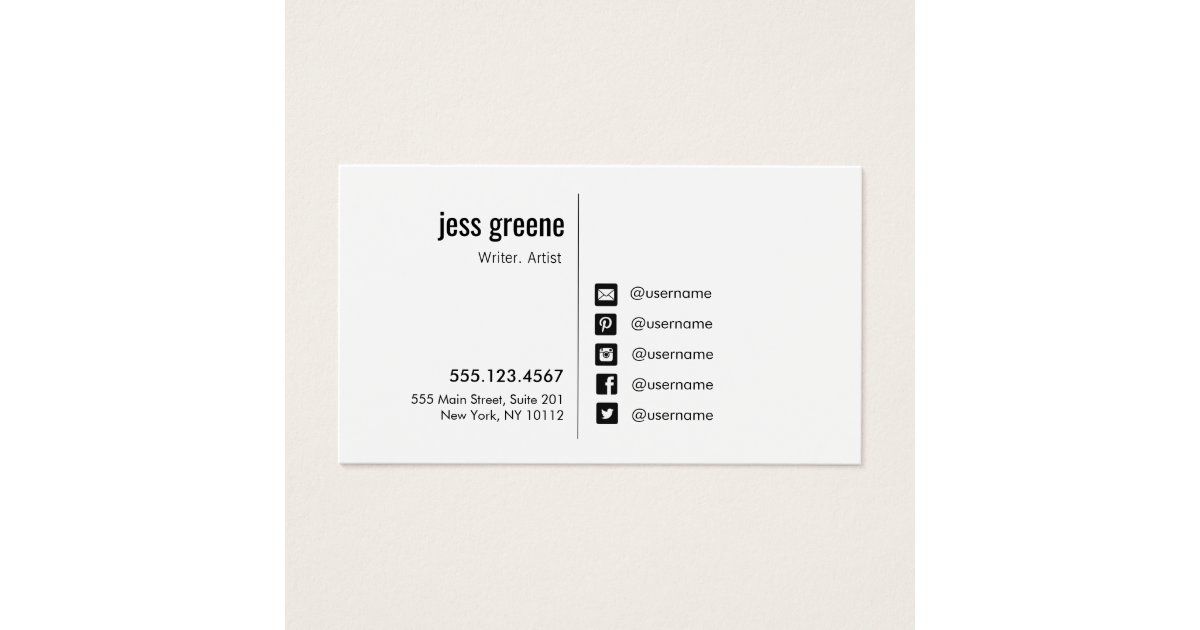 Twitter Business Cards & Templates | Zazzle
