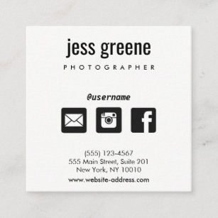 Social media business cards templates zazzle professional black and white social media icons square business card colourmoves