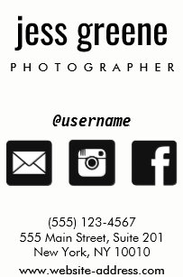 professional black and white social media icons square business card - Social Media Icons For Business Cards