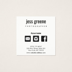 Icon business cards templates zazzle professional black and white social media icons square business card colourmoves Images