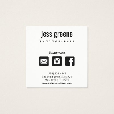 Find Me On Facebook CC0417 Business Card