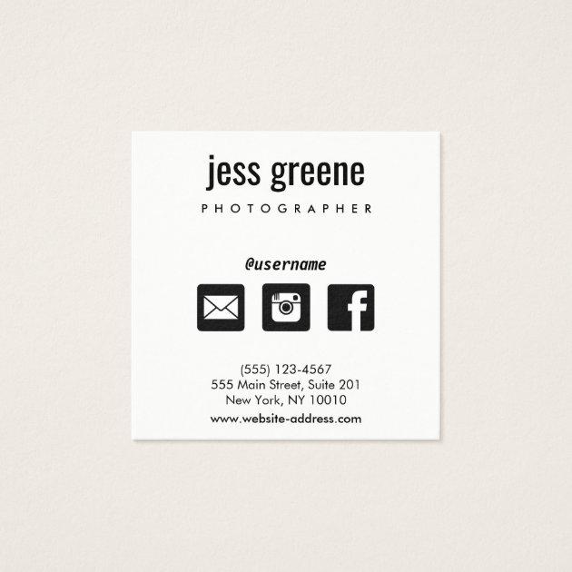 Facebook Business Cards Templates Zazzle