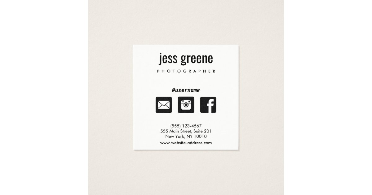 Professional Black and White Social Media Icons Square Business ...