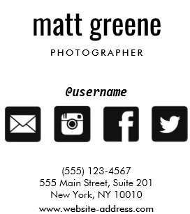 Social media icons business cards zazzle professional black and white social media icons square business card colourmoves