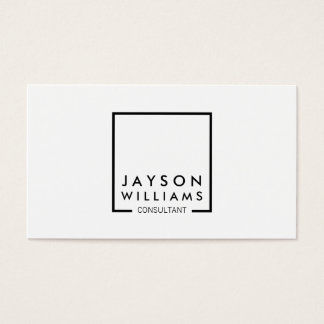 Professional Black and White Square Logo I Business Card