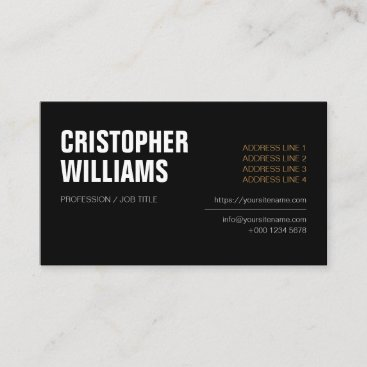 Professional  Black Business Icons Logo Business Card
