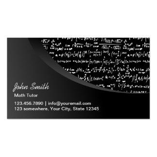 Professional Black Curve Math Tutor Business Card Templates