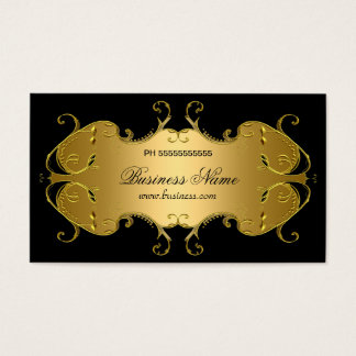 Professional Black Gold Elegant Business Business Card