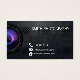 Professional Black Metal Photography Business Card